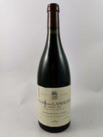 Clos des Lambrays - Domaine F. & L. Saier 1989