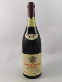 Chambolle-Musigny 1er Cru - Domaine Bertheau 1978